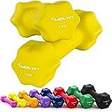 2er Set Gymnastikhanteln in verschiedenen Farben und Gewichtsabstufungen
