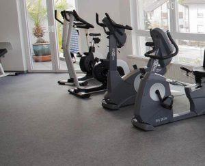 Nadelfilz Bodenbelag Fitnessraum Homegym